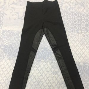 Theory Leggings with leather
